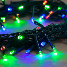 Battery Outdoor Christmas Lights by Amazon Com 21 Ft Multi Color Battery Operated 64 Led 8 Function