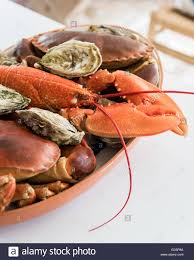 lobster crab and oyster platter stock photo royalty free image