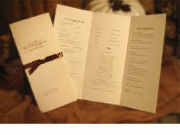 trifold wedding program template awesome trifold wedding program template pictures styles ideas