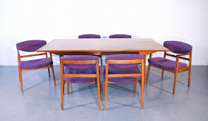 george nelson for herman miller dining table with 6 chairs c 1950
