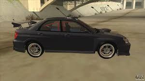 subaru car back subaru impreza wrx sti drift 2004 for gta san andreas