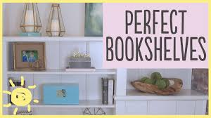 tips how to style a bookshelf 5 easy steps youtube