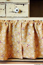 Curtains For A Kitchen by How To Hang Small Cabinet Curtains For Cheap Cottage Magpie
