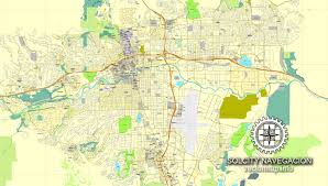 printable map of nevada reno nevada us printable vector city plan map