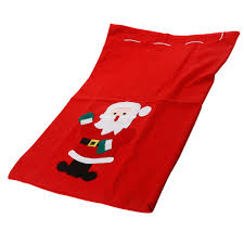 large santa sack snowman christmas gift present stocking bag red
