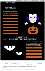 pizza express emails do it again this time for halloween get in