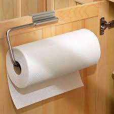 cabinet door paper towel holder stainless in paper towel