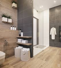wood and dark grey bathroom tiles bathroom designs pinterest