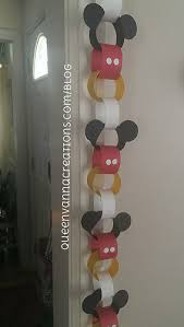 mickey mouse paper chain paper chains mickey mouse and mice