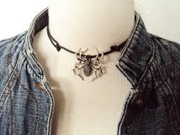 black gothic choker necklace images Large spider choker spider necklace black gothic choker 90s jpg