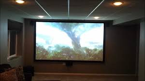 high end home theater projector basement home theater project youtube