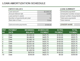 Excel Template Loan Amortization Loan Amortization Schedule Office Templates