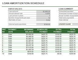 Loan Amortization Schedule Excel Template Loan Amortization Schedule Office Templates