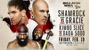 bellator 149 shamrock vs gracie fight card results