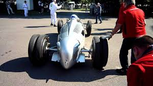 auto union and mercedes w165 engine starts loud