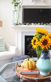 Fall Living Room Ideas by Seasonal Simplicity Fall Living Room Tour The Happy Housie