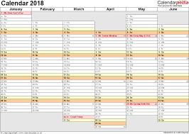 excel calendar 2018 uk 16 printable templates xlsx free
