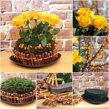 floral arrangement ideas diy flower arrangement ideas yellow roses bamboo stalks rosehips