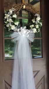 wedding wreath white wedding door wreath grapevine wreath bridal shower