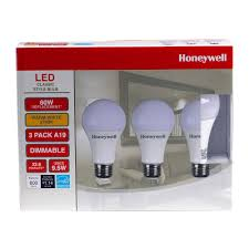A19 Led Light Bulb by Honeywell A196027hb322 Led Light Bulbs 60w Equivalent Dimmable 3