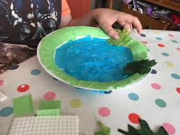 easy paper plate pond craft for kids the gingerbread house co uk