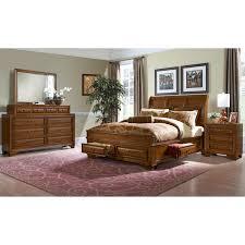 Storage Bed Sets King Sanibelle 6 King Storage Bedroom Set Pine Value City