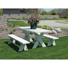 Plans For Picnic Table With Detached Benches by Amazon Com Dura Trel Vinyl Picnic Table W Unattached Benches