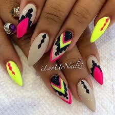creative nail design stiletto nail designs