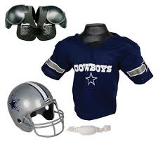 cyber monday motocross gear dallas cowboys youth nfl helmet and jersey set with shoulder pads