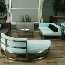 Teal Sofa Set by Metal Sofa Designs