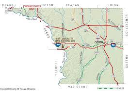 San Angelo Tx Map Crockett County The Handbook Of Texas Online Texas State