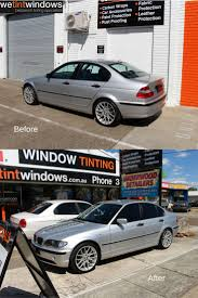 window tinting fort lauderdale we tint windows silver bmw before and after having window film