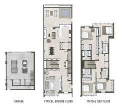 town house floor plan valine