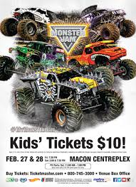 monster jam coming macon centreplex u2013 kids