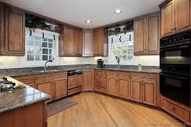 Medium Oak Kitchen Cabinets Pictures Of Kitchens Traditional Medium Wood Cabinets Brown