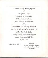blessing invitation invitation to the presentation and blessing of a plaque in memory