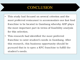 an application of ahp on selection of fast food restaurant among the u2026