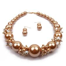 big fashion pearl necklace images Big pearl crystal wedding set jewelry set fashion pearl jewelry jpg