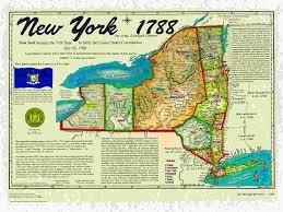 Maps Of New York State by Original 13 States