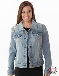 light distressed denim jacket light wash long sleeve distressed denim jacket with cream cowgirl