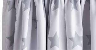 Blackout Curtains White Children U0027s Blackout Curtains White Grey Star Gltc