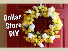 dollar store decor spring wreath diy youtube