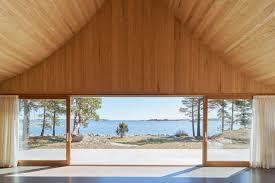 col house modern summer house in sweden features cedar cladding sleek