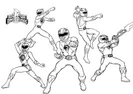 beautiful mighty morphin power rangers coloring pages 19