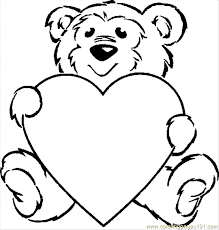coloring pages of teddy bears to print bears teddy bear with a