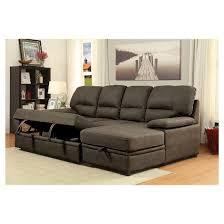mibasics samson modern style pullout sleeper sofa brown target