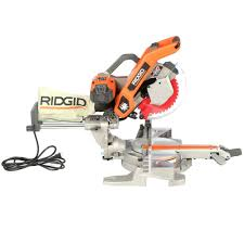 Skil Flooring Saw Home Depot by Ridgid 10 In Sliding Compound Miter Saw With Dual Laser Guide