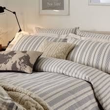 charcoal grey striped bedding oakley bed linen at bedeck 1951