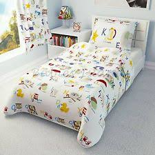 Cot Bed Duvet Cover Boys Alphabet Bedding Set Duvet Cover Pillowcase Baby Toddler Junior