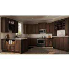 does home depot kitchen cabinets hton assembled 36x34 5x24 in sink base kitchen cabinet in cognac